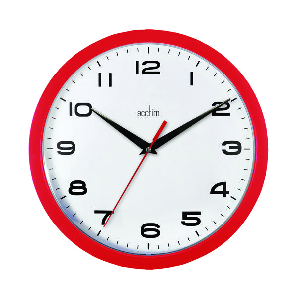 Acctim Aylesbury Wall Clock Red 92/303
