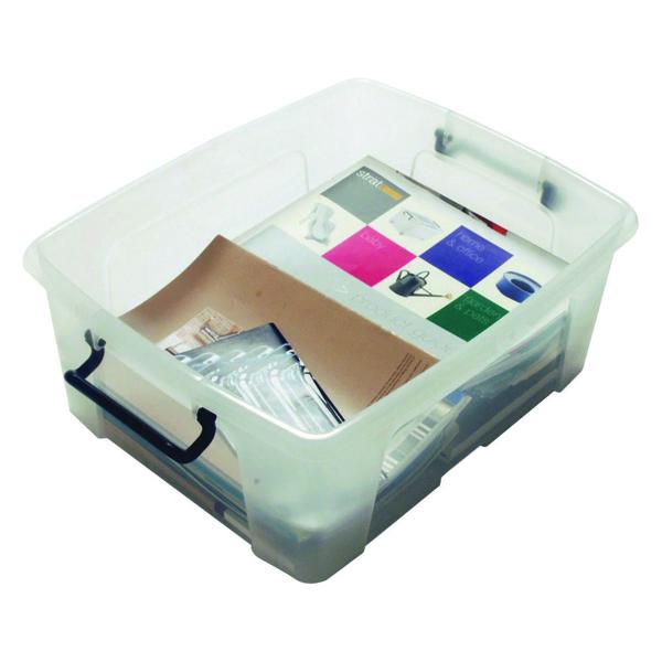 Strata Smart Box 24 Litre Clear (395 x 500 x 190mm) HW673