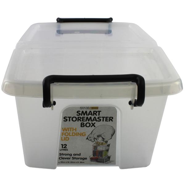 Strata Smart Box 12 Litre Clear (295 x 400 x 70mm)  HW671