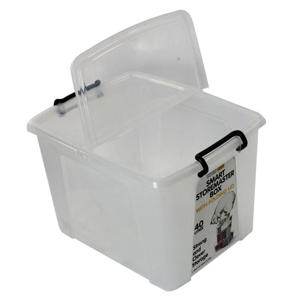 Strata Smart Box 40 Litre Clear (Exterior W395 x D500 x H320mm) HW674