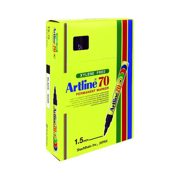 Artline 70 Bullet Tip Permanent Marker Black (Pack of 12) A701