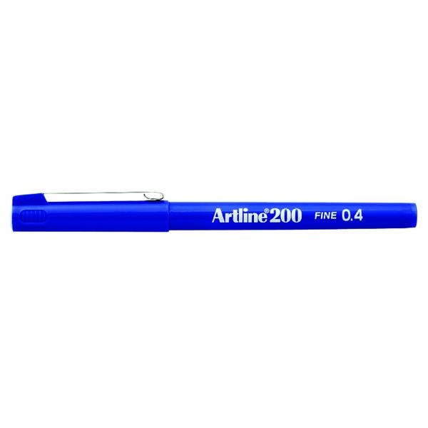 Artline 200 Fineliner Pen Fine Blue (Pack of 12) A2003