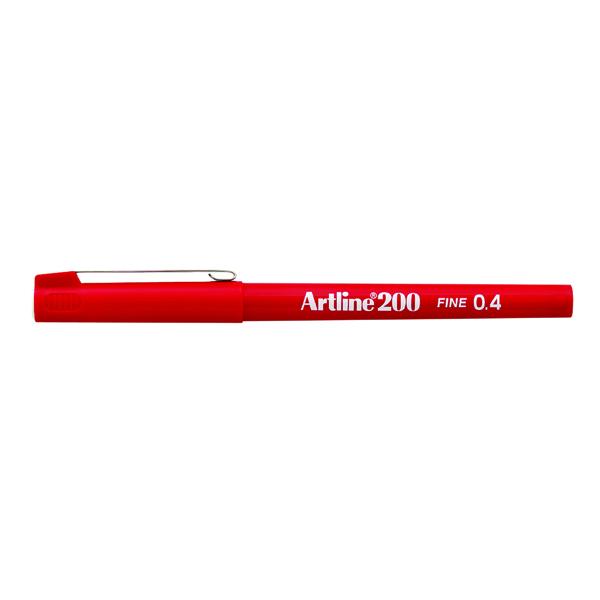 Artline 200 Fineliner Pen Fine Red (Pack of 12) A2002