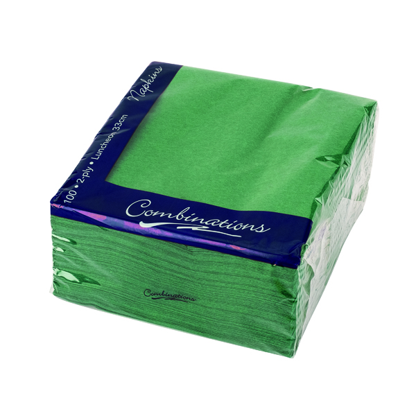 Combinations Napkin 330mm x 330mm Forest Green (Pack of 100) 3324FGCOM
