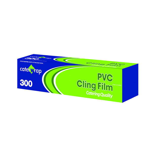 Caterwrap Cling Film 300mmx300m Cutter Box (Cutter box allows you to easily cut film) 32C08