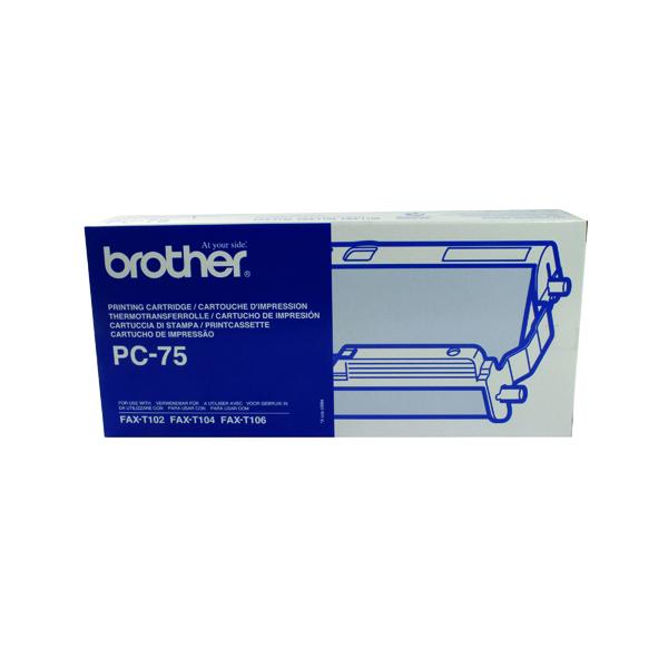 Brother Thermal Transfer Ribbon Ink Film Black PC75