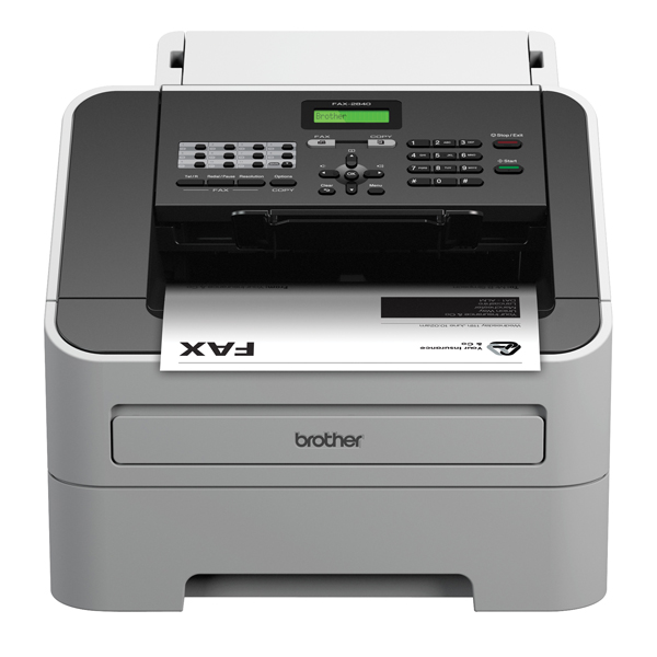 Brother FAX-2840 High-Speed Laser Fax Machine White FAX2840ZU1