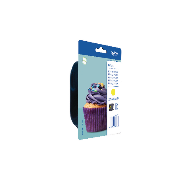 Brother Yellow Ink Cartridge (600 Page Capacity) LC123Y
