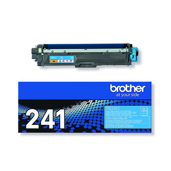 Brother TN-241C Cyan Laser Toner Cartridge (1400 page capacity) TN241C