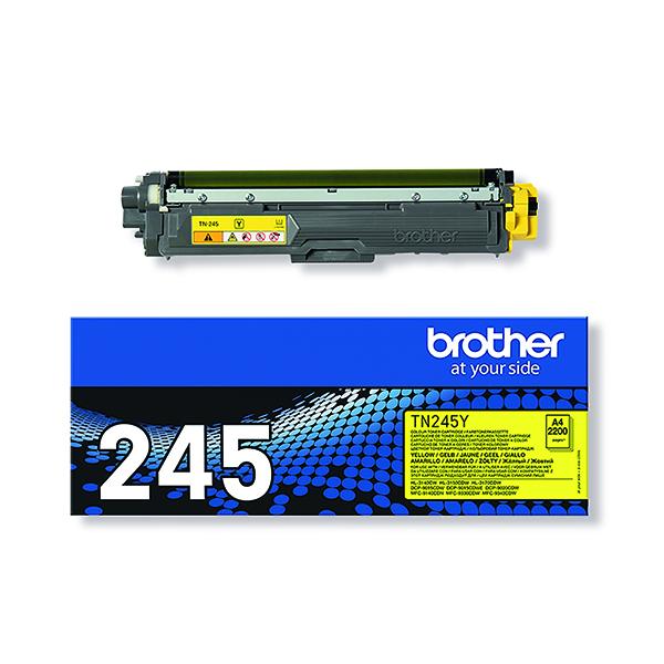 Brother TN-245Y Yellow Toner Cartridge High Capacity TN245Y