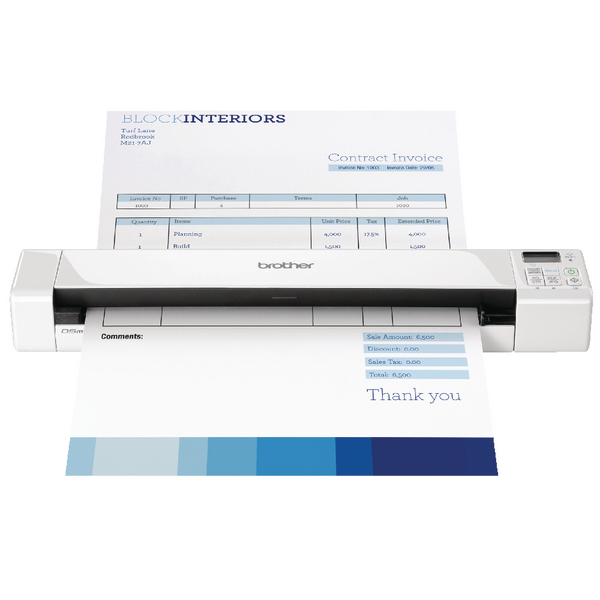 Brother DS-820W Portable Document Scanner Wireless White DS820WZ1