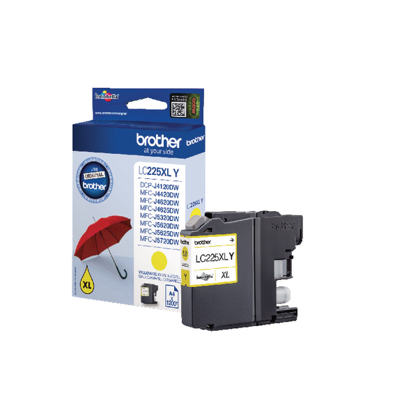 Brother High Yield Yellow Inkjet Cartridge LC225XLY