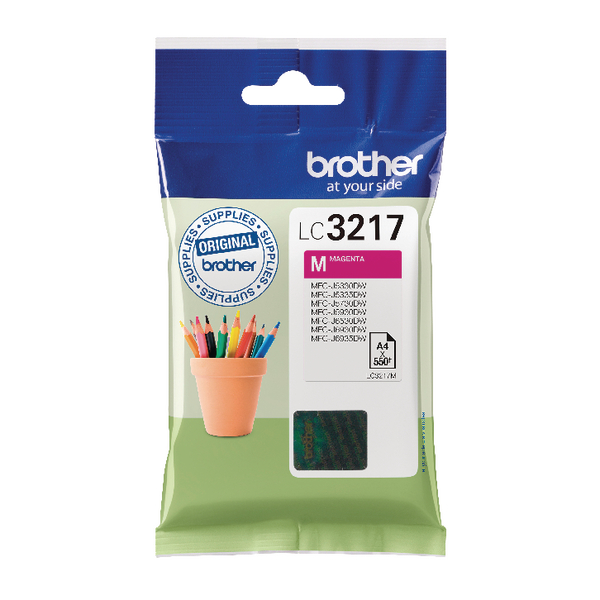 Brother Magenta Standard Yield Inkjet Cartridge LC3217M