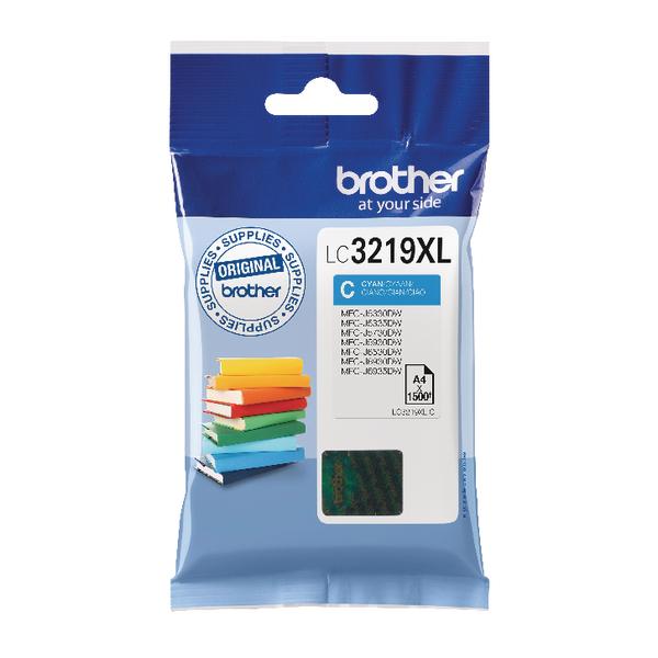 Brother High Yield Cyan Inkjet Cartridge LC3219XLC