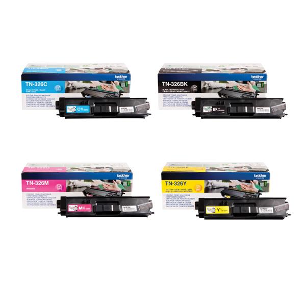 Brother TN326 Toner Cartridge Bundle Cyan/Magenta/Yellow/Black (Pack of 4) BA810616