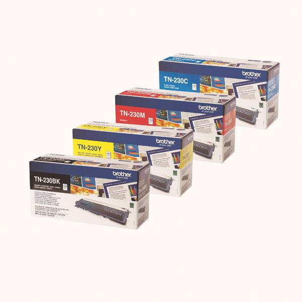 Brother TN230 Toner Cartridge Bundle Cyan/Magenta/Yellow/Black (Pack of 4) BA810618