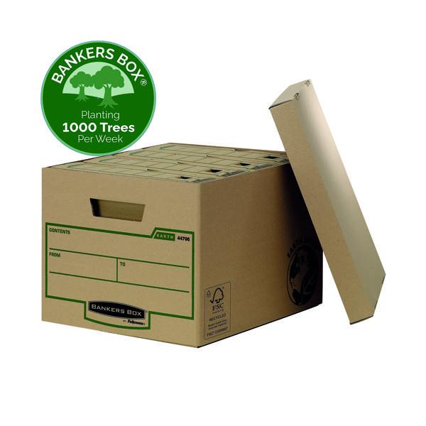 Bankers Box R-Kive Earth Storage Box Brown (Pack of 10) 4470601