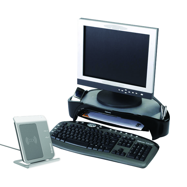 Fellowes Smart Suites Monitor Riser Plus Black/Silver 8020801