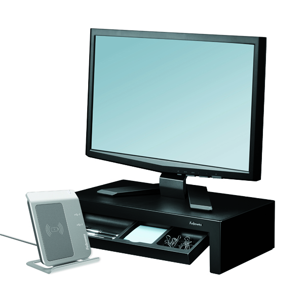 Fellowes Designer Suites Monitor Riser Black 8038101
