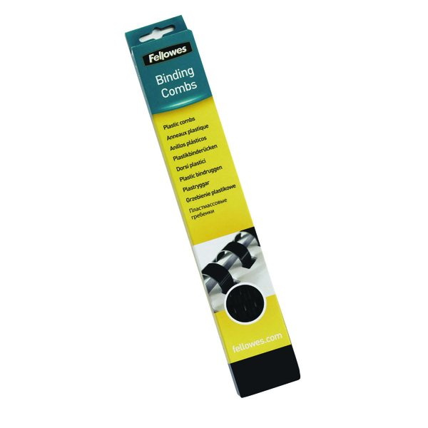 Fellowes A4 Binding Combs 19mm Black (Pack of 100) 53477