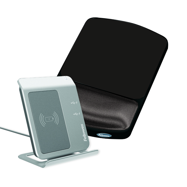 Fellowes Premium Gel Adjustable Mouse Pad Black 9374001
