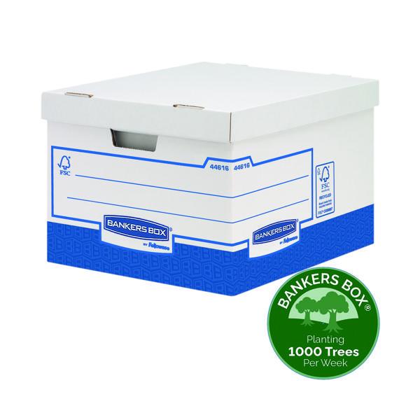 Fellowes Basics Storage Box Heavy Duty Large (Pack of 10) BB72106