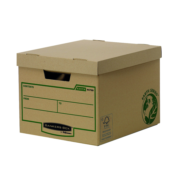 Bankers Box by Fellowes Earth Series Pk10 Heavy Duty Storage Box Buy One Get One Free BB810445