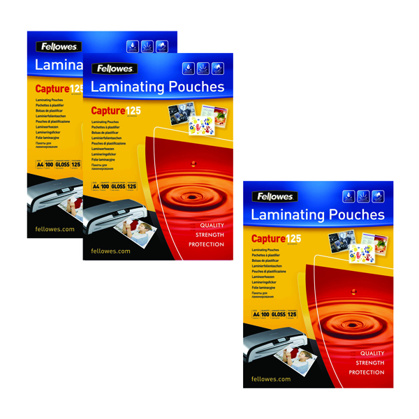 Fellowes Laminating Pouch A4 250 Mic Get 3 Packs for the Price of 2 (Pack of 200+100) BB810553