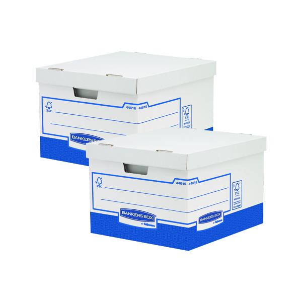 Fellowes Basics Large Storage Box (Pack of 10) BOGOF BB810579