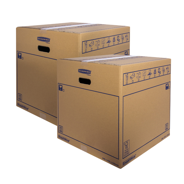 Bankers Box SmoothMove Standard Moving Box 446x446x446mm (Pack of 10) BOGOF