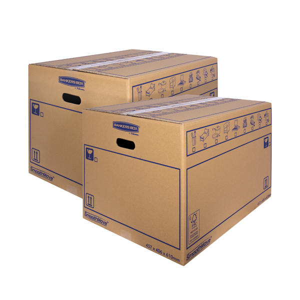 Bankers Box SmoothMove Standard Moving Box 460x410x610mm (Pack of 10) BOGOF