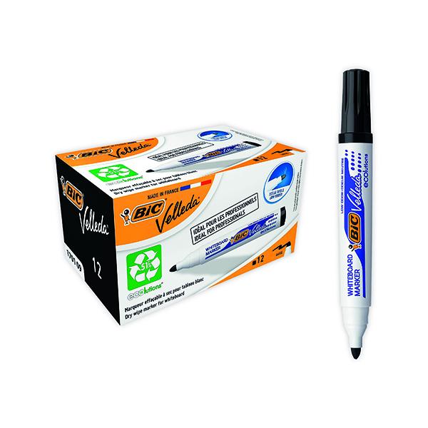 Bic Velleda 1701 Whiteboard Marker Black (Pack of 12) 1199170109