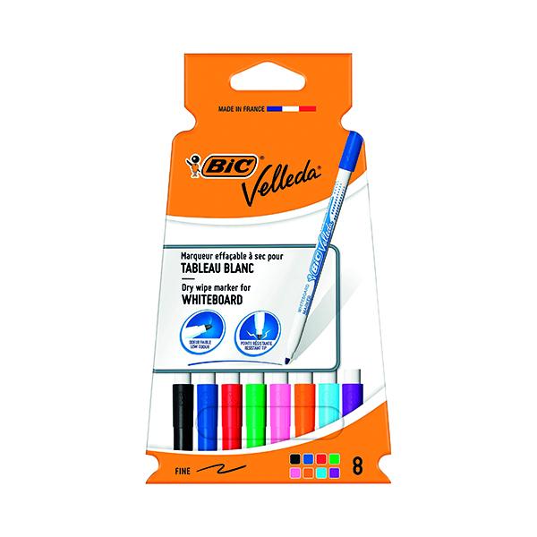 Bic Velleda 1721 Drywipe Marker Fine Assorted (Pack of 8) 1199005728