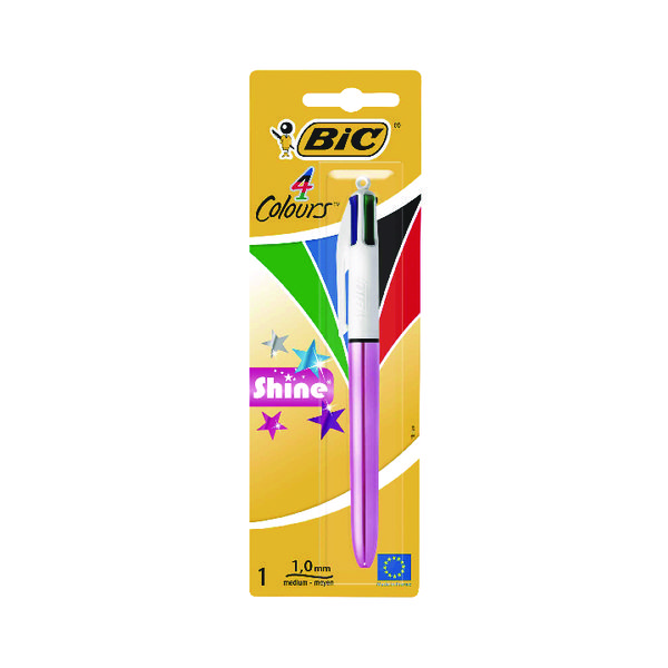 Bic 4 Colours Shine Blister (Pack of 10) 907906