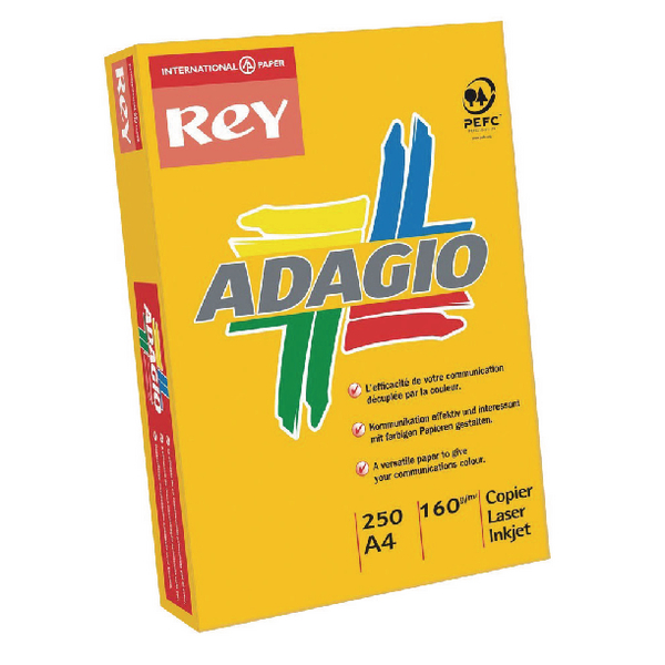 Adagio Intense Orange A4 Coloured Card 160gsm (Pack of 250) 201.1224
