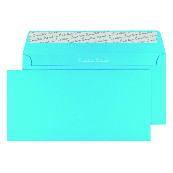 DL Wallet Envelope Peel and Seal 120gsm Cocktail Blue (Pack of 250) 209
