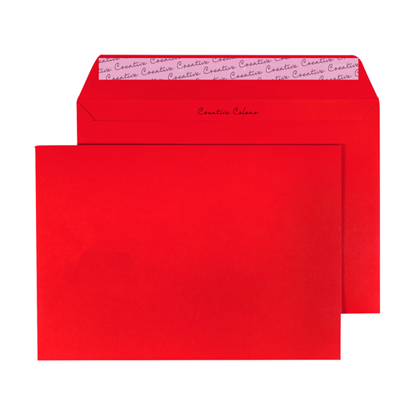 C5 Wallet Envelope Peel and Seal 120gsm Pillar Box Red (Pack of 250) BLK93020