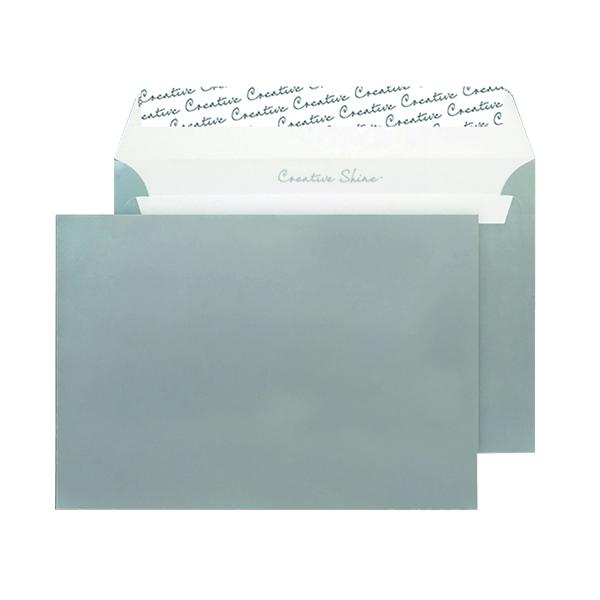 C5 Wallet Envelope Peel and Seal 130gsm Metallic Silver (Pack of 250) 312
