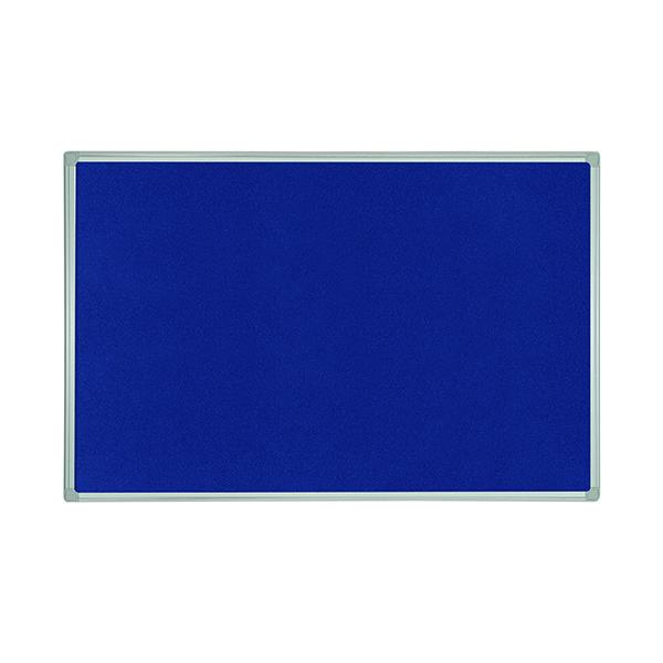 Bi-Office Felt Noticeboard 600x450mm Blue FB0443186