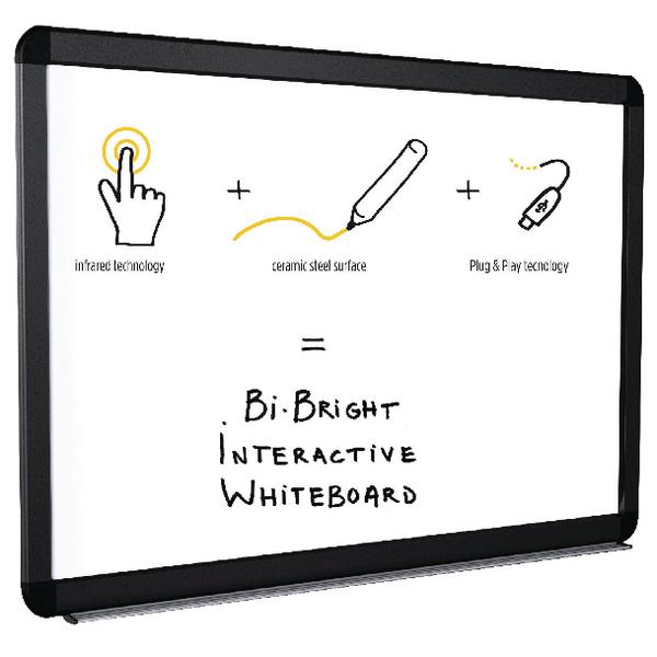 Bi-Office Bi-Bright eRED3 Interactive Whiteboard 96in BI1591805B