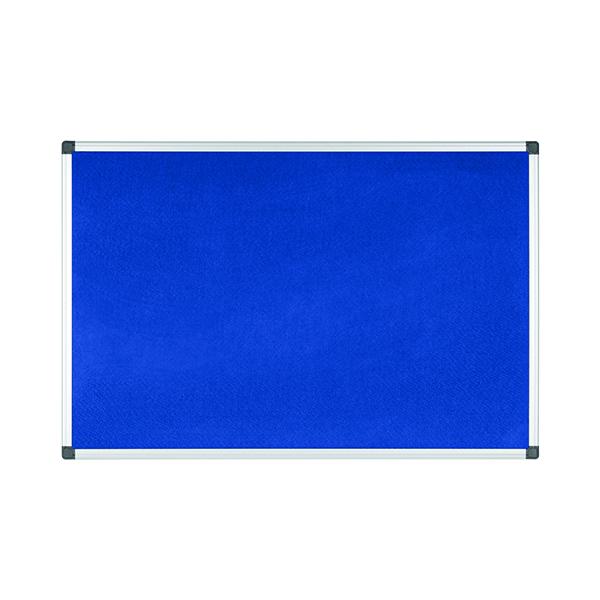 Bi-Office Aluminium Trim Felt Notice Board 1200x900mm Blue FA0543170-999