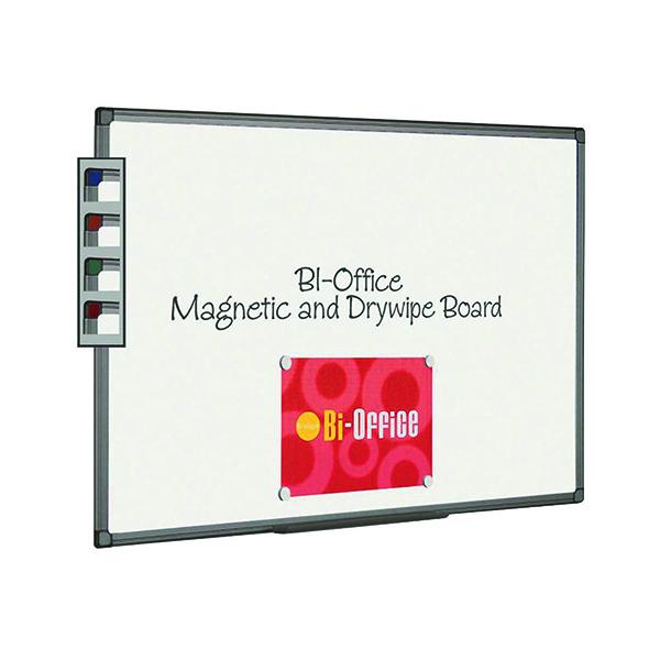 Bi-Office Aluminium Finish Magnetic Whiteboard 1200x900mm MB1406186