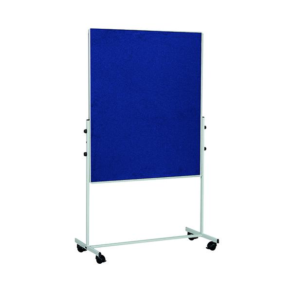 Bi-Office Mobile Felt Board 1500x1200mm Blue EA8327075