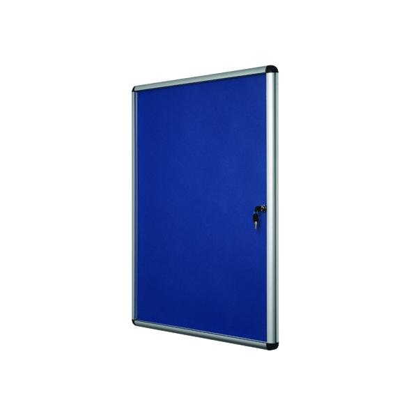Bi-Office Lockable Internal Display Case 931x670mm Blue VT630107150