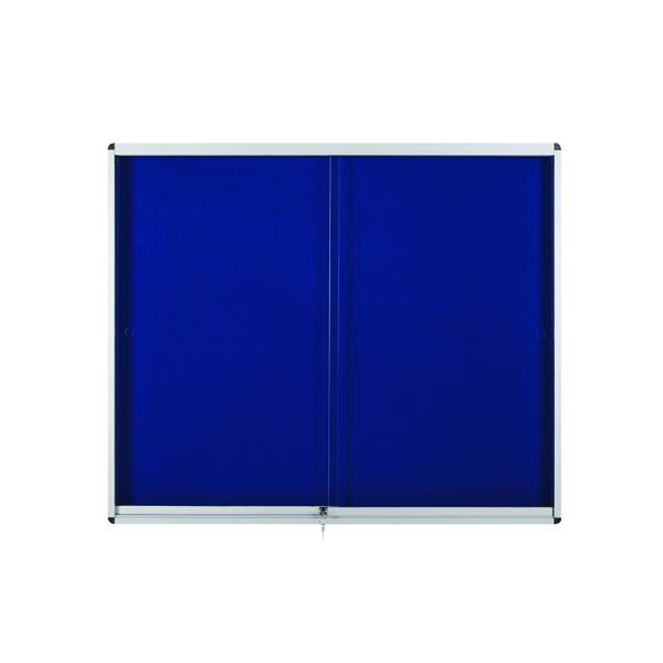 Bi-Office Lockable Internal Display Case 890x625mm Blue VT690107160