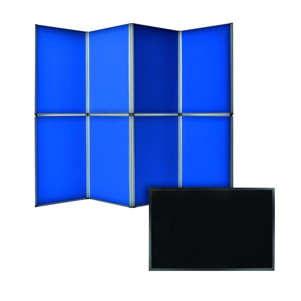 Bi-Office 6 Panel Display Kit Blue FOC Memo Board FB0736169