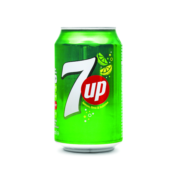 7-Up Lemon and Lime Carbonated Canned Soft Drink 330ml (Pack of 24) 402010