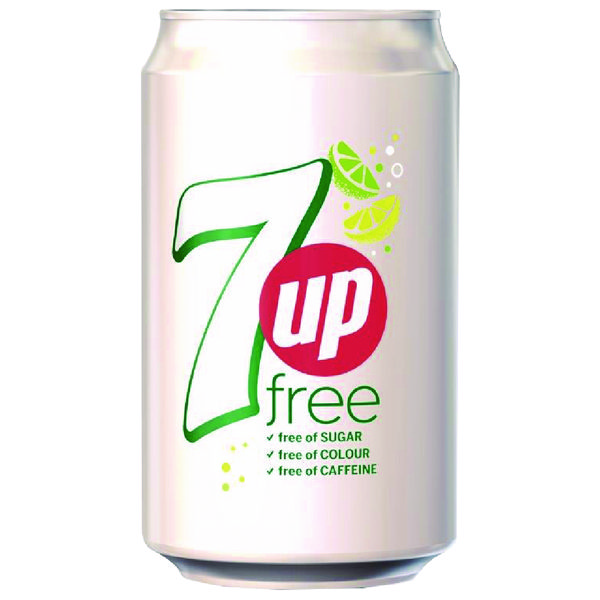 7 Up Free Lemon and Lime Carbonated Canned Soft Drink 330ml (Pack of 24) 402049