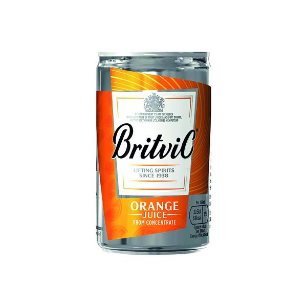 Britvic Orange Juice 330ml Can (Pack of 24) 402045