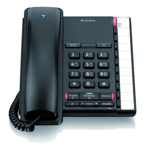 BT Converse 2200 Corded Phone Black 040208